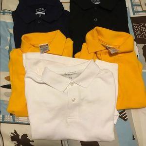 5 polo shirts 6/7 boys